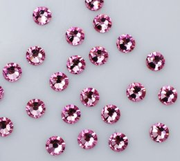 Top Quality 1440pc SS3-SS20 Crystal Rose Red Glass Glue Fixed Non Hotfix Flatback Rhinestone Nail Art Decoration Clothing DIY