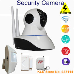 Wholesale Home Security Camera System Wireless Ip Wifi p HD with mhz Alarm motion door sos Sensors app control by smart phone KLN