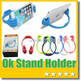 Wholesale Universal Thumbs Up OK Stand Desktop Mount Holder for Ipad Iphone S6 Note Any phone