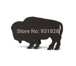 Wholesale Cheap Buffalo Place Cards australian themed Forest Rustic Wedding escort seating cards Baby Shower table number name card