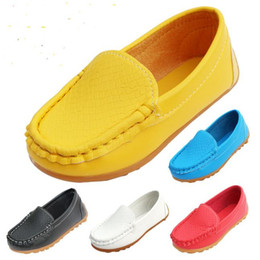 High-quality rubber Soft Sole Casual Flats Boat Shoes Hot Sale Children Shoes Kids PU Leather Sneakers Size 21-30