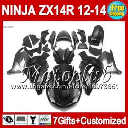 7gifts For KAWASAKI ZX-14R 12 13 12 Silver black 13 ZX14 R 25C175 ZX 14R 12-13 NINJA ZX14R Flat black 2012 2013 2012 2013 ZX 14 R Fairing