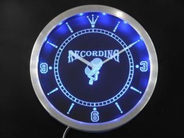 Canada nc0283-b Enregistrement On The Radio Air studio Neon Sign LED Horloge murale Offre