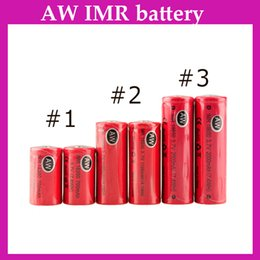Wholesale AW IMR battery mAh mAh battery for Mechanical Mods Itaste Vamo E Cigarette