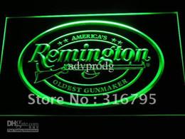 d233-g Remington Firearms Hunting Gun Logo Neon Light Sign