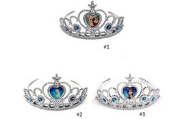 Promotion accessoires de cheveux pour les bébés filles robe de tiare couronne congelé Elsa Anna couronnes princesse cœur diamant diadème bébés filles hairban partie des accessoires de cheveux de concours (1704001)