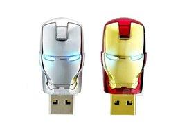 Wholesale 30 Cartoon Avengers Iron Man silver gold Metal usb flash drive GB GB GB GB GB USB Flash Memory Stick Drive pendrive