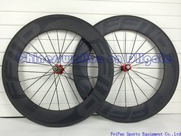Wholesale 2014 newest FFWD popular dark logo mm rim full carbon road bike wheels wheelset fast forward C wheels with novatec hubs spokes nipples