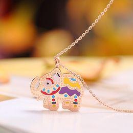 Fashion Teddy Bear jewelry necklace Cute Girls boy Titanium Steel Multicolor Necklaces & Pendants for women chain