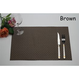 Wholesale 2016 New Coaster Retro Woven Placemats Waterproof PVC Mats Family Dinning Table Mats Heat Resistant Bar Coffee Cup Insulation Pads