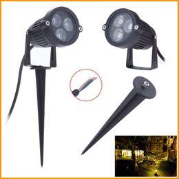 Wholesale 20X Excellent Feedback W Outdoor LED Lawn Lamp Light V Garden Landscape IP65 Aluminum LED Stake Spot Lights