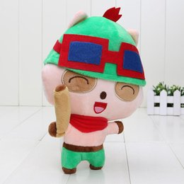 Wholesale 5pcs Teemo Plush Toy Doll Game Player Gift Baby Collect Stuffed KIds Toy The Swift Scout mini size cm