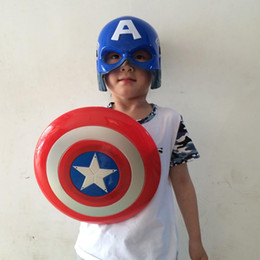 Superhero Avengers Alliance Led Light America Captain Mask Weapon Shield Costume Carnival Halloween Children Toy