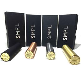 SMPL Mod 18650 Mod mecánica Clon Vape vaporizador Negro Cobre Latón Acero desde cobre vaporizador mod proveedores