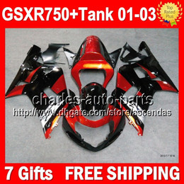 Wholesale 7gifts Tank For SUZUKI GSXR750 Orange black K1 GSX R750 GSXR Q4 GSX R750 GSXR Fairings Orange silver