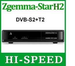 Wholesale 10pcs Best selling in Italy Zgemma Star H2 Enigma2 Combo DVB S2 T2 C Satellite Receiver with samsung A DVB T Tuner