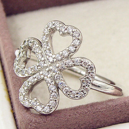 High quality 100% 925 Sterling Silver Petals of Love with Clear CZ Ring European Pandora Style Jewelry Charm