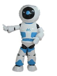 RH0411 adult blue robot mascot costume for adult to wear