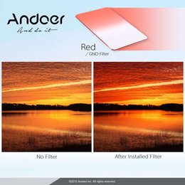 Andoer 100 * 150mm Square Filter GND Graduated Red Z Series Filter for Lee and Cokin Z-Pro Holders Camera Filters