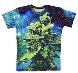 Promotion imprimé floral t-shirts femmes BUD corail galaxie imprimer 3d t-shirt hommes / femmes été style t-shirt tops tee shirts de rue masculina taille plus S-XXL