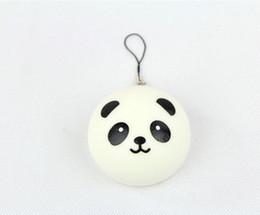 Wholesale cute Panda Squishy Buns Bread Charms Mini panda expression cm Squishies Cell Phone Straps