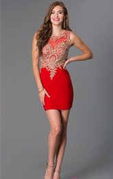 Wholesale Real Photos Sleeveless Homecoming Dresses Mini A line Cocktail Gowns Best Selling Lace Appliques Short Prom Dresses Graduation