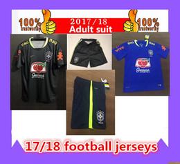 Wholesale - 2017 Brazil kits BLUE training suit soccer jersey, Sports Outdoors Brazil national team World Cup warm up training short long sl