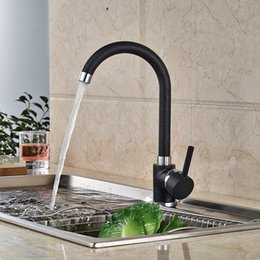 Wholesale And Retail Solid Brass Kitchen Faucet Black Body Single Handle Hole Vessel Vanity Sink Mixer Tap