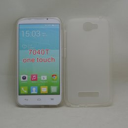 Transparent TPU Cases For Alcatel one touch POP ICON 7040T Pudding Style Soft TPU Cover Gel Back Case Free Shipping (A0485)