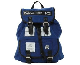 Wholesale Dr Who Tardis Backpack Doctor Who bags for Unisex Hot fashion Doctor Tardis Outdoor Backpacks Police Box Bag Backpack School Bags Canvas