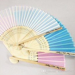 promotional quality hand fans custom printed wedding favor party gifts bamboo folding silk fans wholesale 010