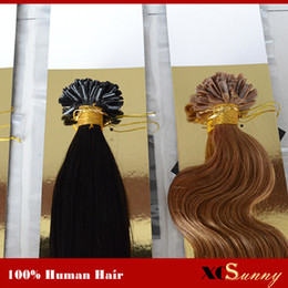 "XCSUNNY 18"" 20"" U Tip Hair Extensions Human Blonde 100g 1g s 100% Malaysian Virgin Hair U Tip Hair Extensions In Stock"