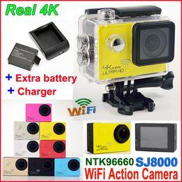 HD 4K 24fps camera SJ8000 WiFi Sports action camera Novatek NT96660 16MP 2.0LCD waterproof Action helmet Cameras 1080P 60fps Video car DVR