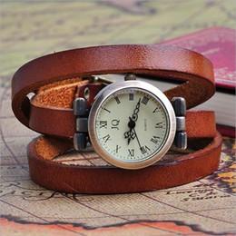 Vintage Long Band Genuine Cow leather Watch Women Brand Men ROMA Header Ladies Bracelet Dress Quartz Wristwatches Relojes C1263