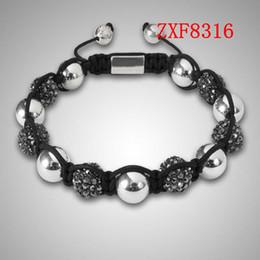 jewelry factory!Nialaya Individuality Best bracelets shamballa gold alloy cool dill Weave adjust High-grad Copper Beads bracelets ZXF8316
