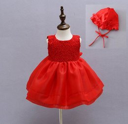 Baby Girls Elegant Communion Dresses Child Sleeveless Princess White Party Wedding dress Christening Gown 8019BB