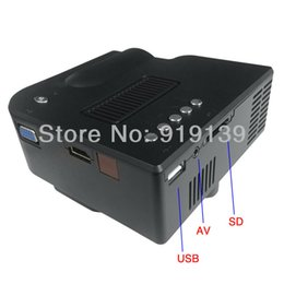 Wholesale-Portable LED Mini Projector Lowest Cost With HDMI USB VGA SD For Home Used Game Beamer Work With iPhone iPad Android Phone