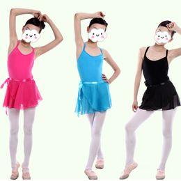 Candy Children Kids Girl Ballet Tutu Dance Skirt Skate Wrap Chiffon Hot 5 Colors