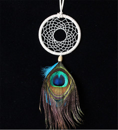 Wholesale hot sale fashion good price peacock feathers ornaments native american indian dream catcher DIA for christmas gift D496