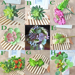 Wholesale Artificial Flower Succulent Plants For Wedding Bouquet Party Decorations Kinds Flower Decoration New Fashion