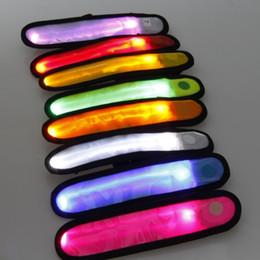 50pcs lots Outdoor Sports Safety Reflective Lattice LED Flashing Arm Party Band Transparent LED Flashing Arm Band Wrist Strap Armband