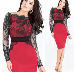 Free shipping The New Fashion Lace decorate women party dress Slash Neck Long Sleeve dress.