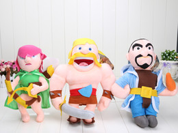 Wholesale New cm Clash of Clans Game Plush Toys Archer Wizard Barbarian plush dolls for children