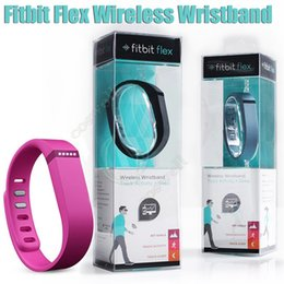 Wholesale 100 Quality Fitbit Flex Wireless Wristband Pedometers Step Tracker Sleep Monitor Sports fitness smart band watch for IOS Android bracelet