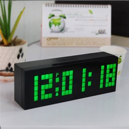 Wholesale Digital LED Alarm Clock Electric Countdown Timer Wall Desk Table Alarm Clock Bedroom Snooze Calender Thermometer Dual Alarms New