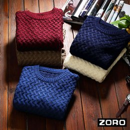 ZORO United States Tide brand new winter men's sweater hedging sweater cultivating wild solid color sweater