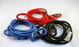 Wholesale 100pcs Nylon Rope Dog whisperer Cesar Millan style Slip Training leash lead and collar