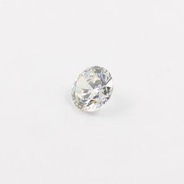 Wholesale 10pcs mm mm Cubic zirconia Machine Cut simulated diamond round loose CZ stones