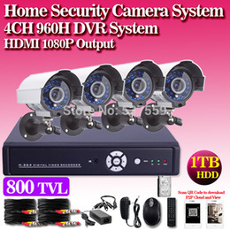 Home Security 4ch CCTV System 800TVL indoor Outdoor IR Camera Network DVR Recorder 4ch Video Surveillance System DVR Kit