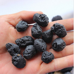 Wholesale TOP Natural black meteorite nunatak moldavite uranolite gruond apotropaic ALOT